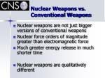 nuclear weapons vs conventional weapons