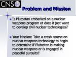 problem and mission