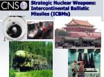strategic nuclear weapons intercontinental ballistic missiles icbms