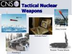 tactical nuclear weapons