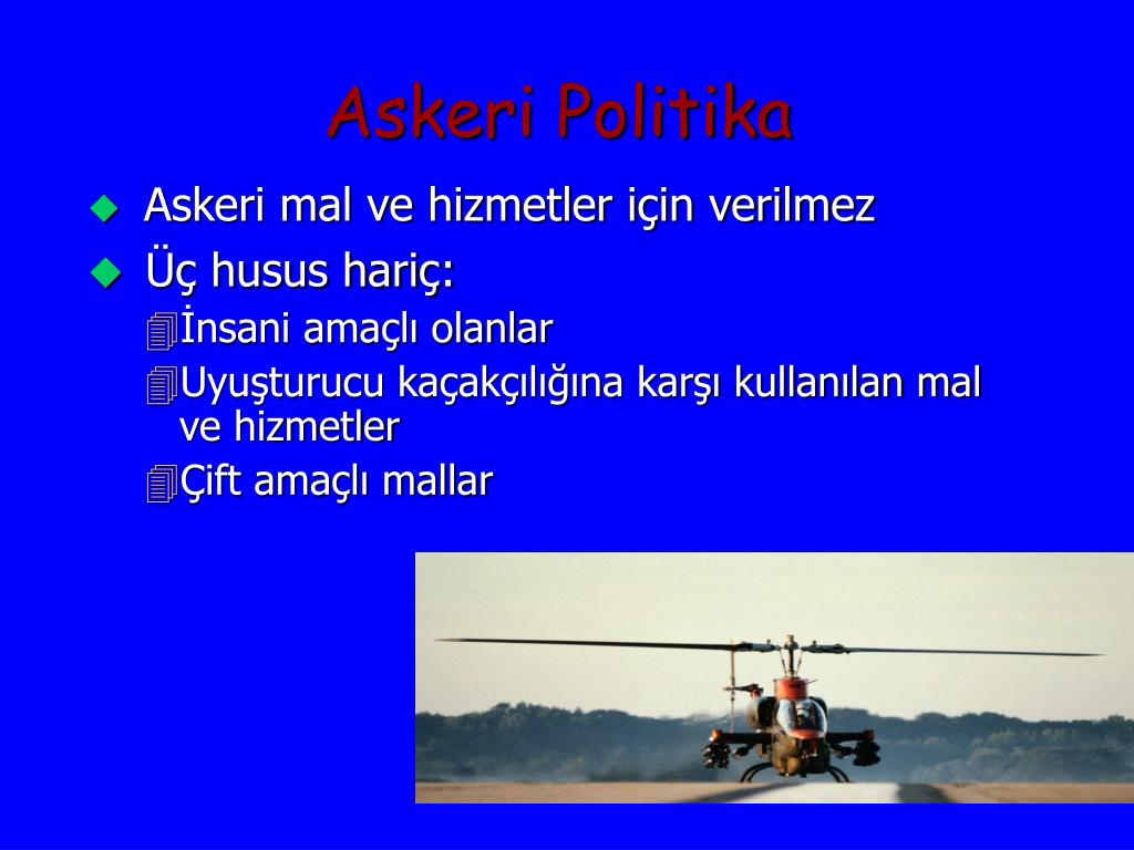 Askeri Politika