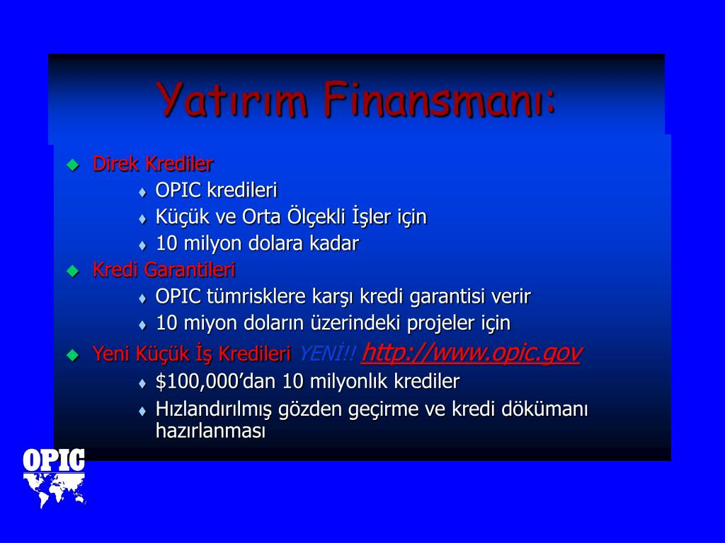 Yatırım Finansmanı