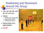 positioning and movement around the group