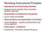 revisiting instructional principles