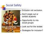 social safety