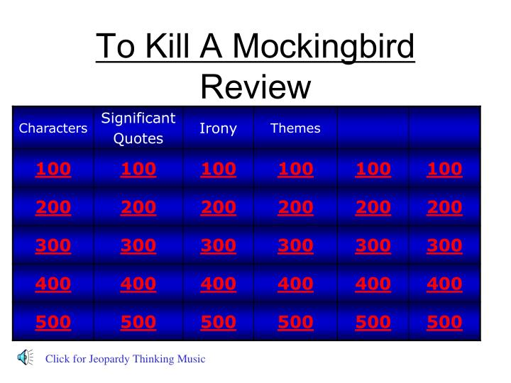 to kill a mockingbird review n.