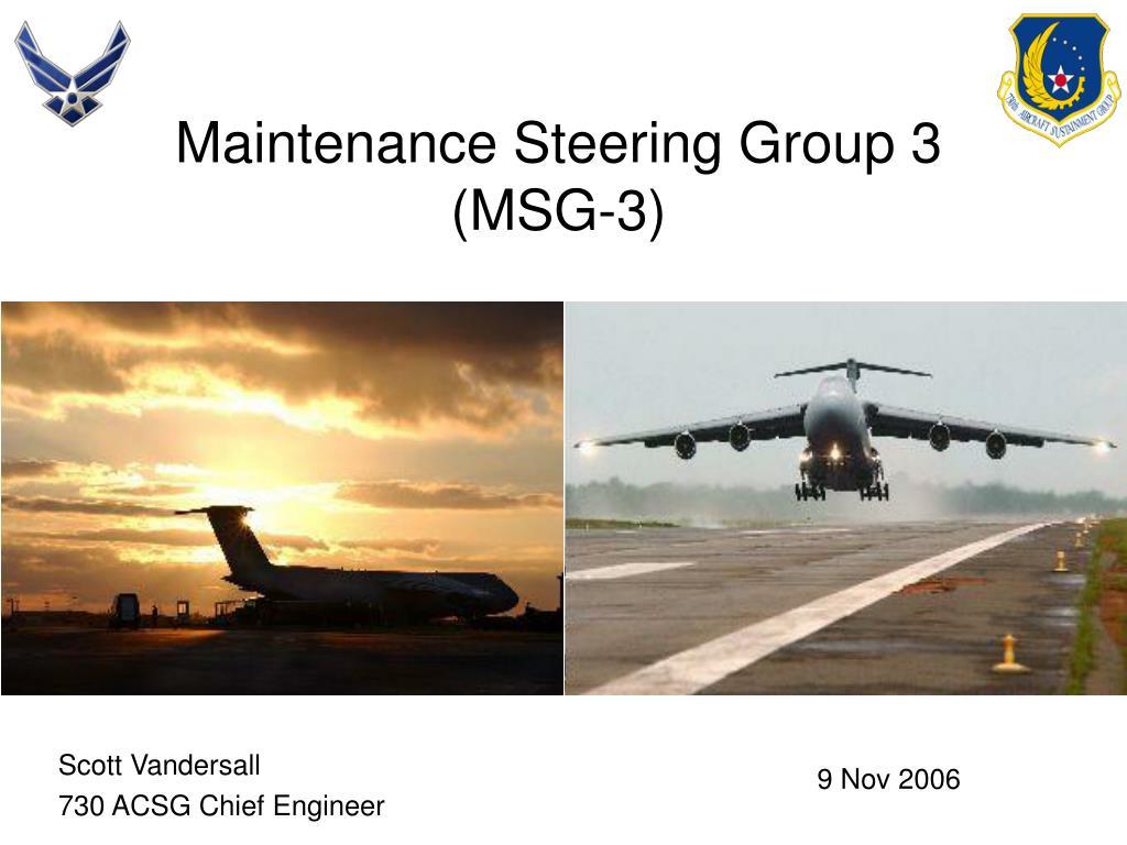 Maintenance Steering Group 3