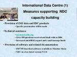 international data centre 1 measures supporting ndc capacity building