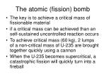 the atomic fission bomb