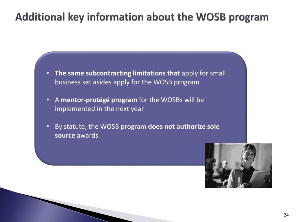 Additional key information about the WOSB program
