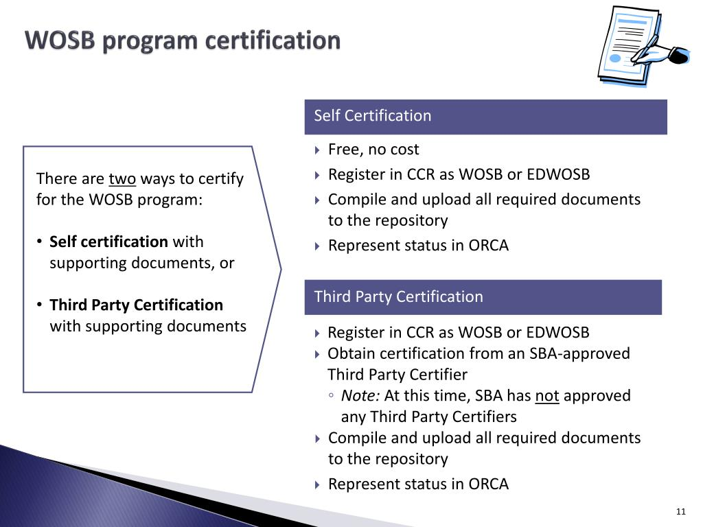WOSB program certification