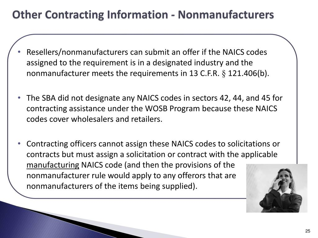 Other Contracting Information - Nonmanufacturers