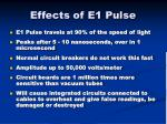 effects of e1 pulse