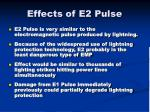 effects of e2 pulse
