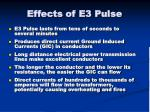 effects of e3 pulse