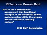 effects on power grid