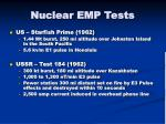 nuclear emp tests