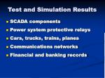 test and simulation results