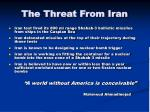 the threat from iran