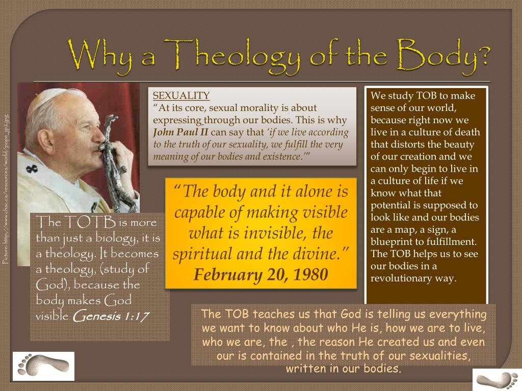 Why a Theology of the Body?