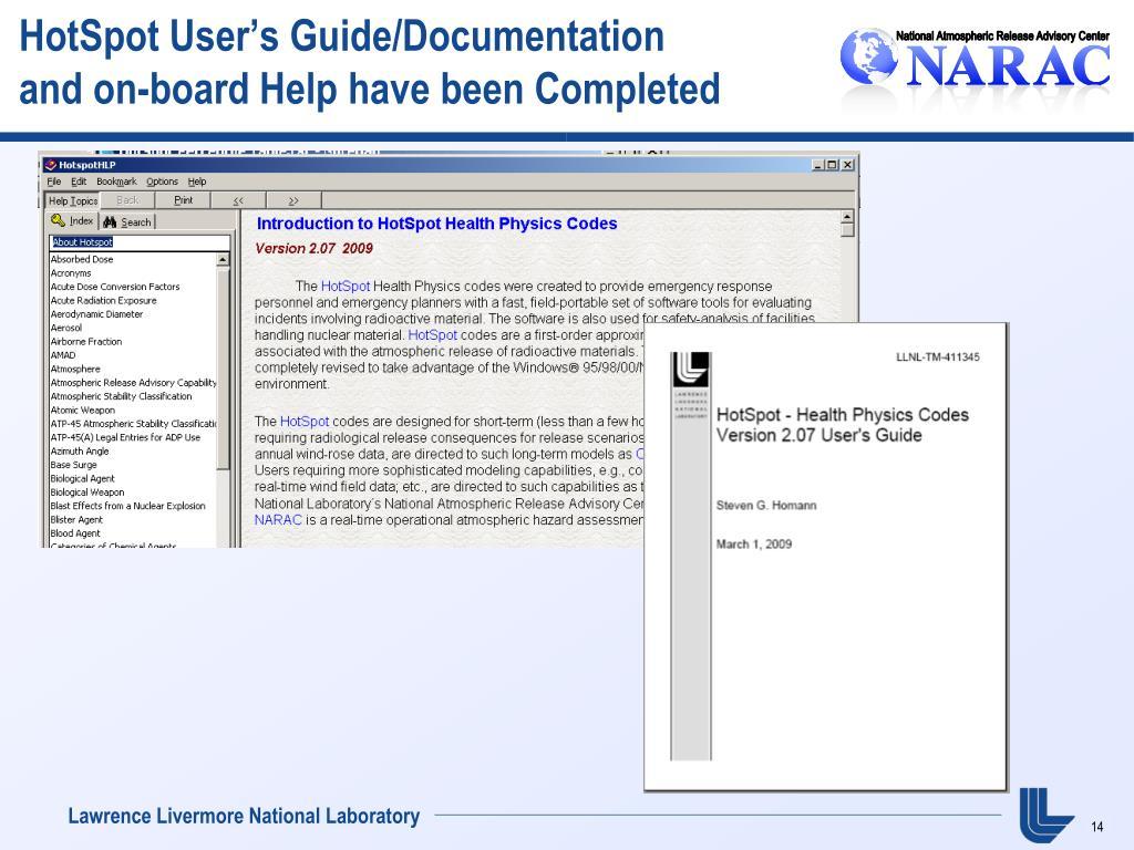 HotSpot User's Guide/Documentation