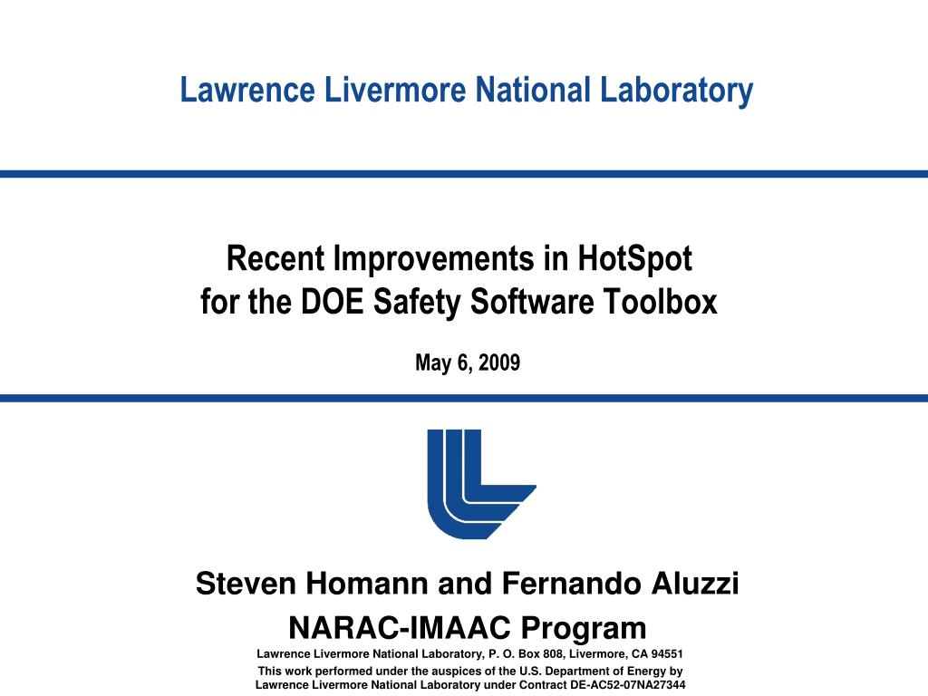 recent improvements in hotspot for the doe safety software toolbox l.