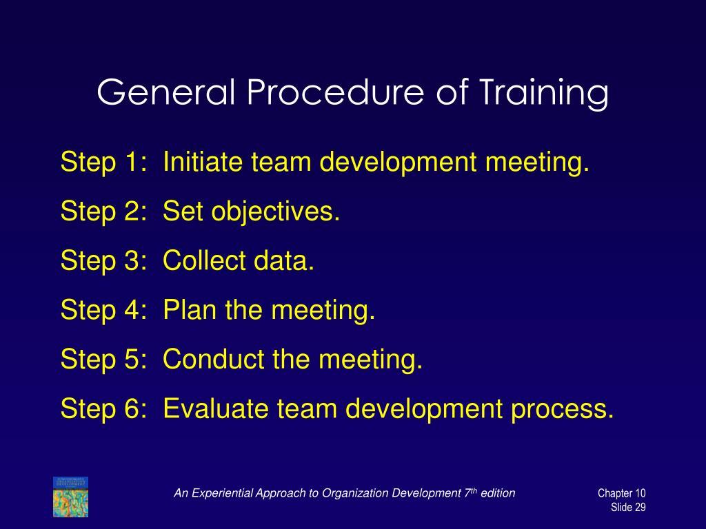 General Procedure of Training