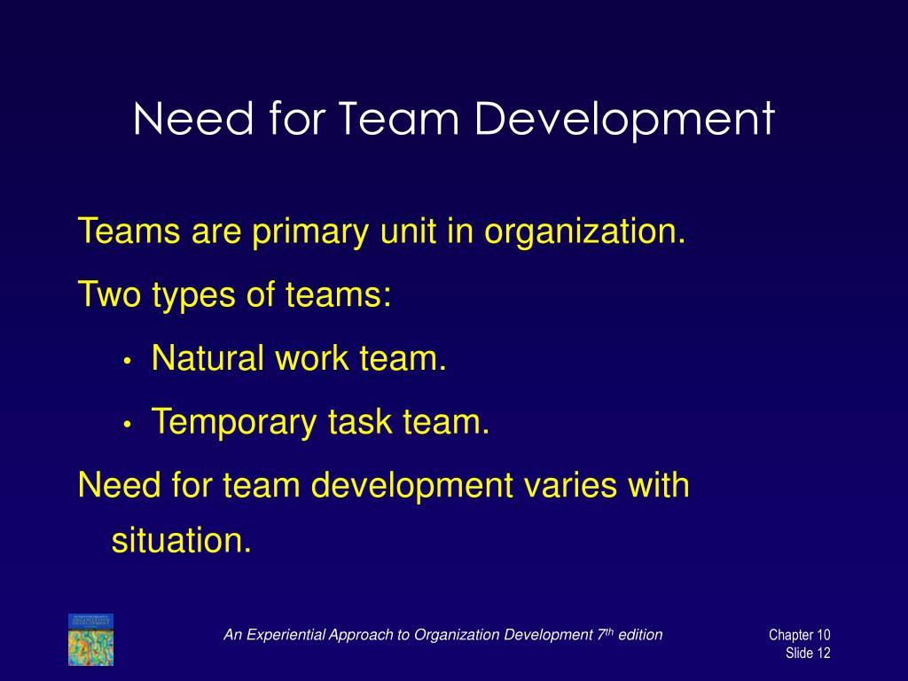 Need for Team Development