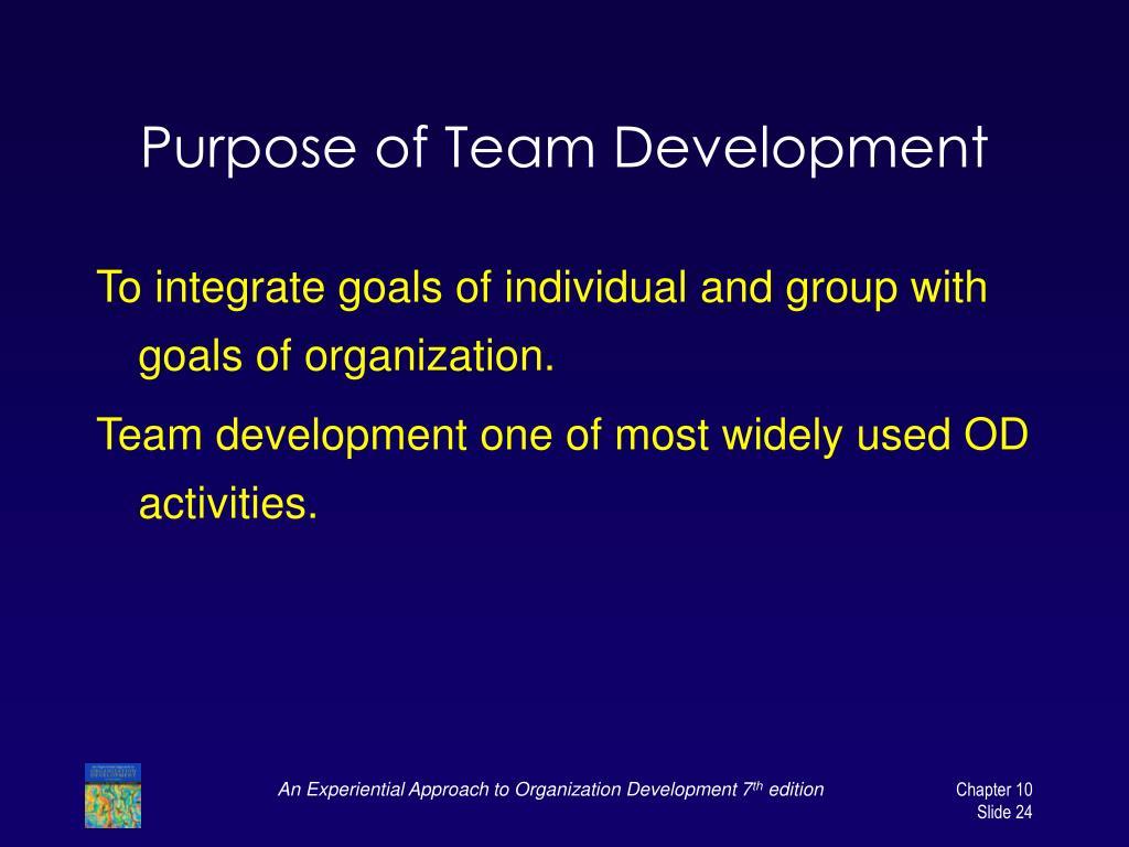 Purpose of Team Development