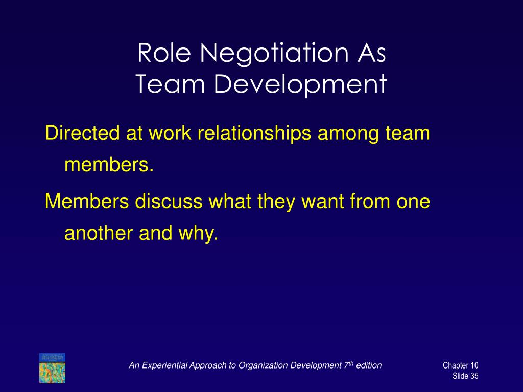Role Negotiation As
