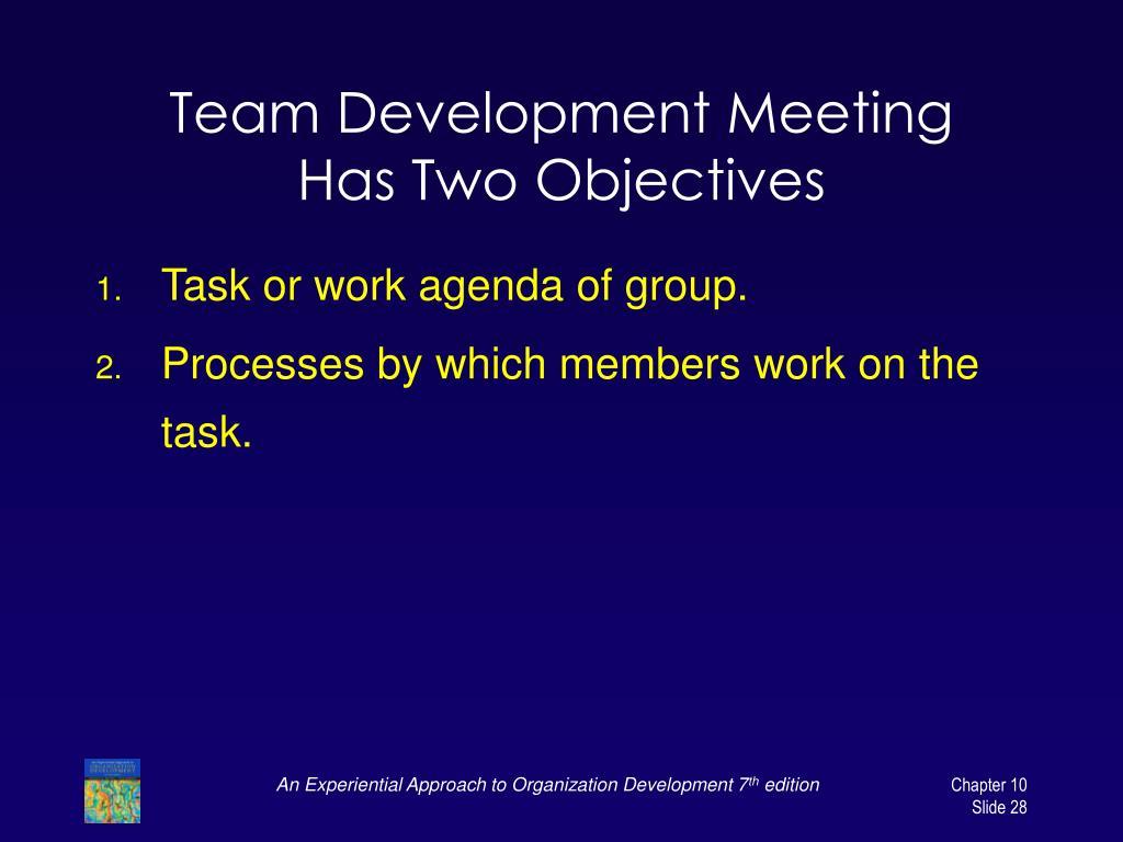 Team Development Meeting