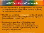 agc fact sheet continued