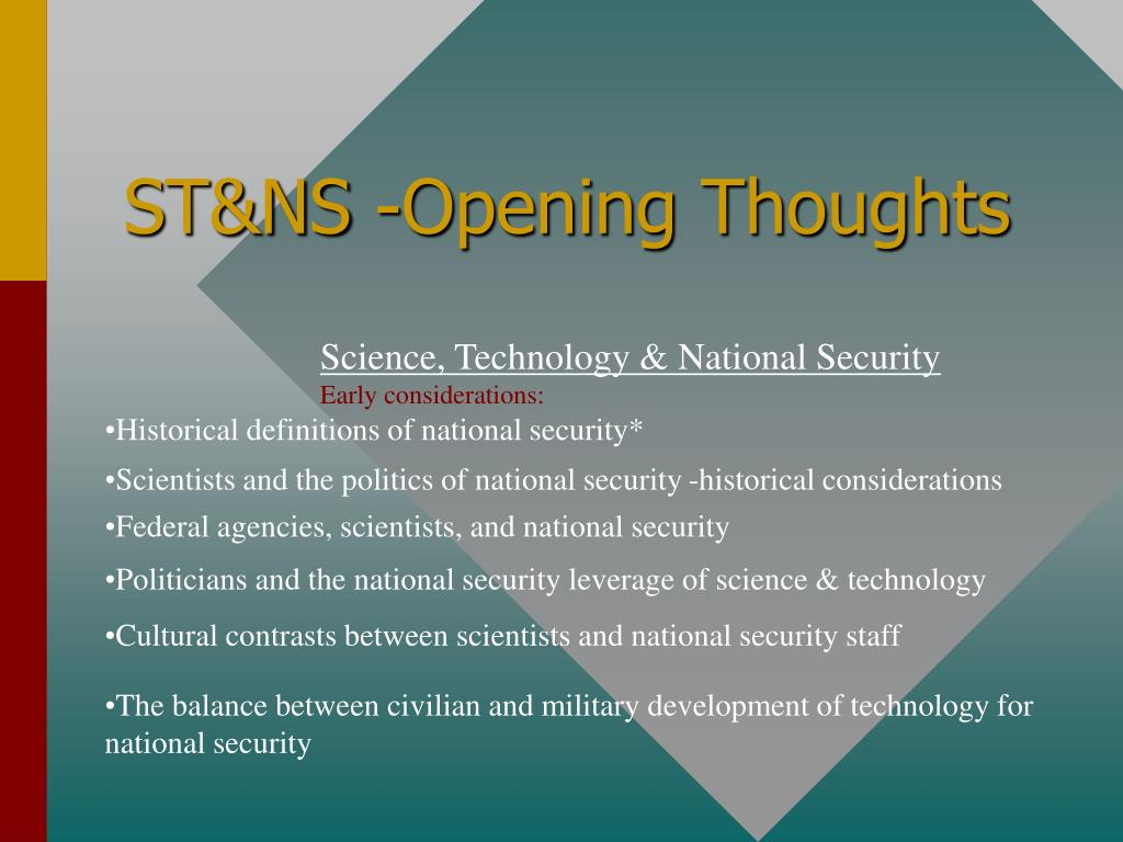 st ns opening thoughts l.