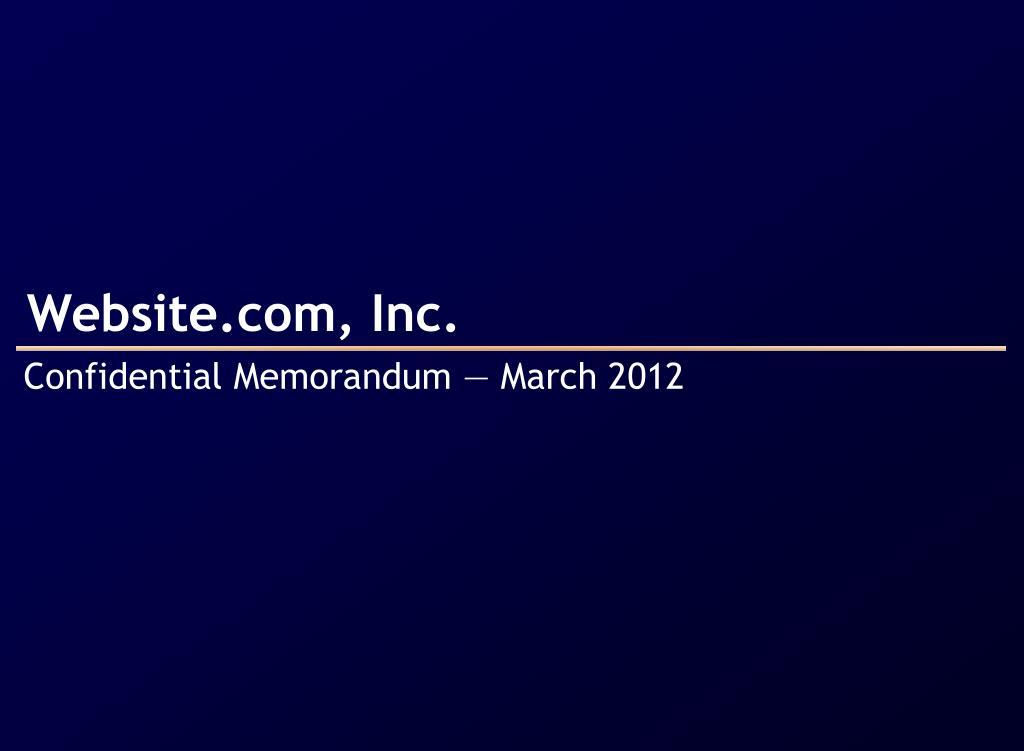 Website.com, Inc.