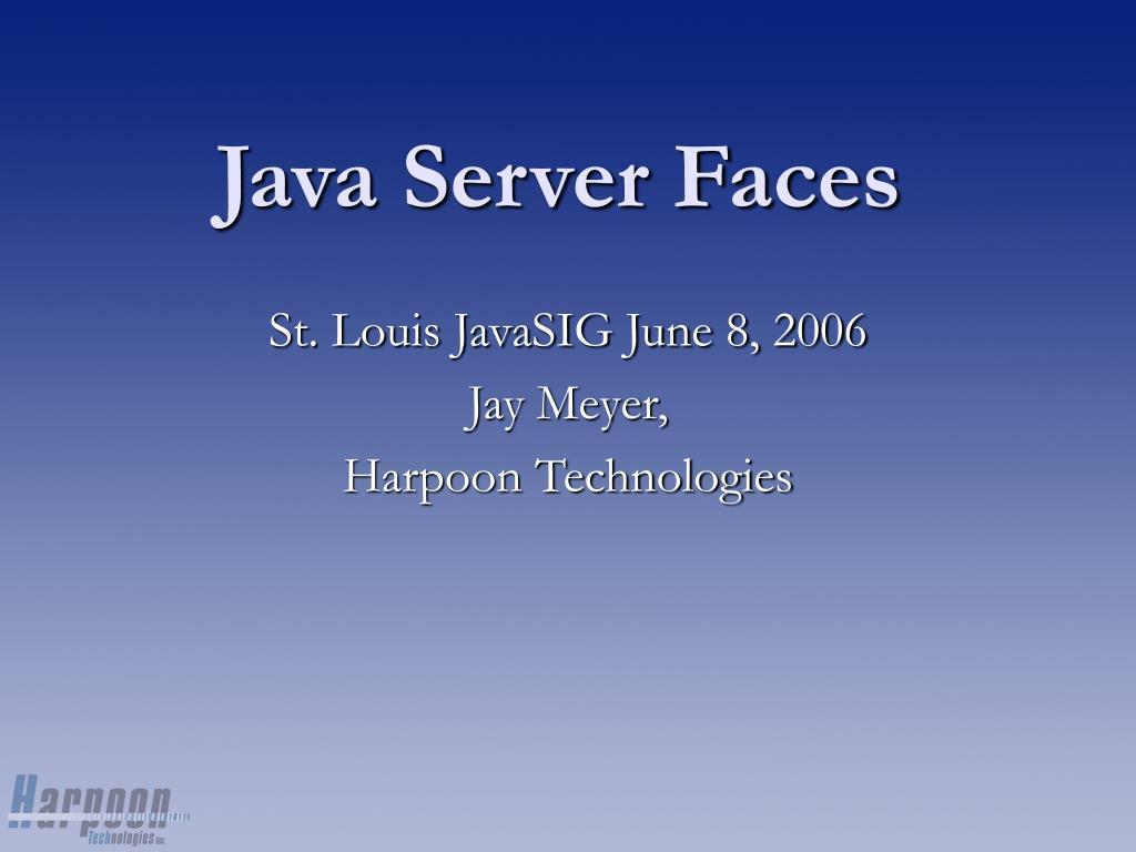 java server faces l.