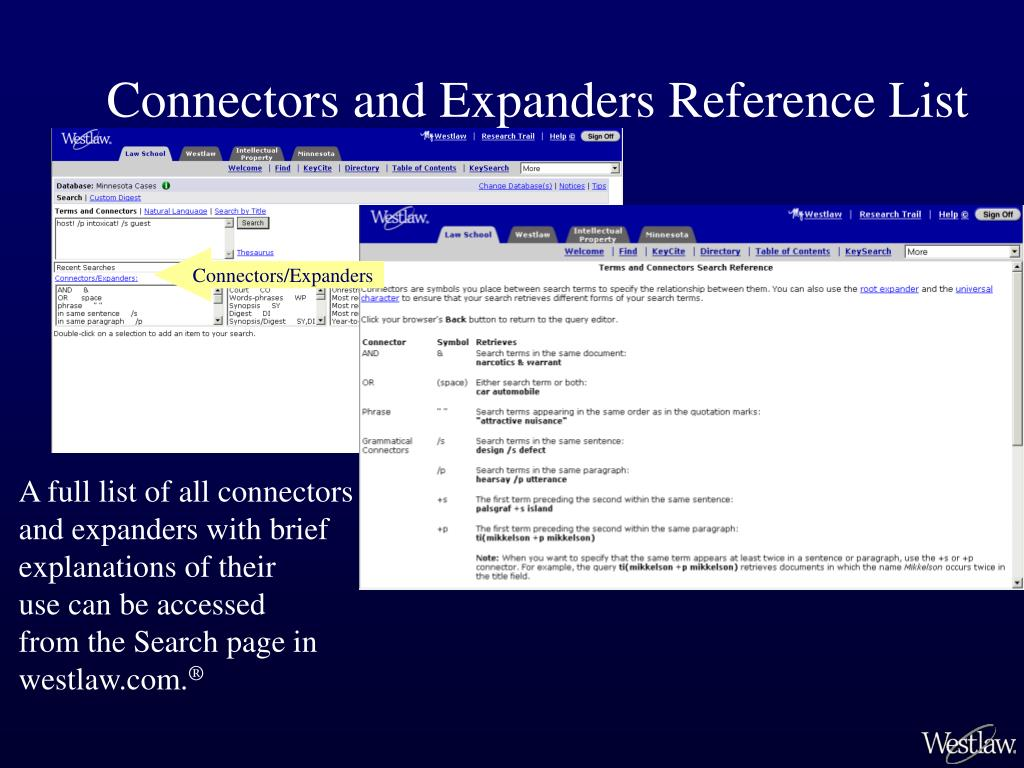 Connectors and Expanders Reference List