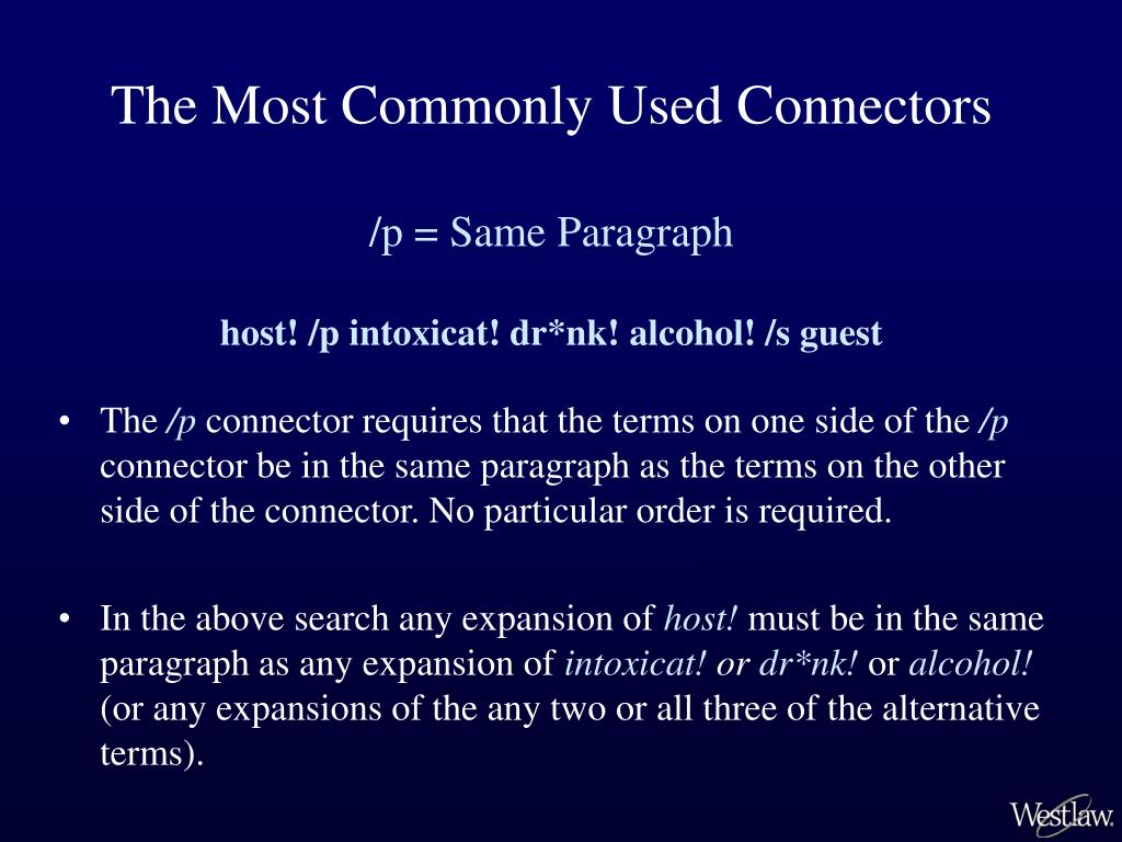 The Most Commonly Used Connectors