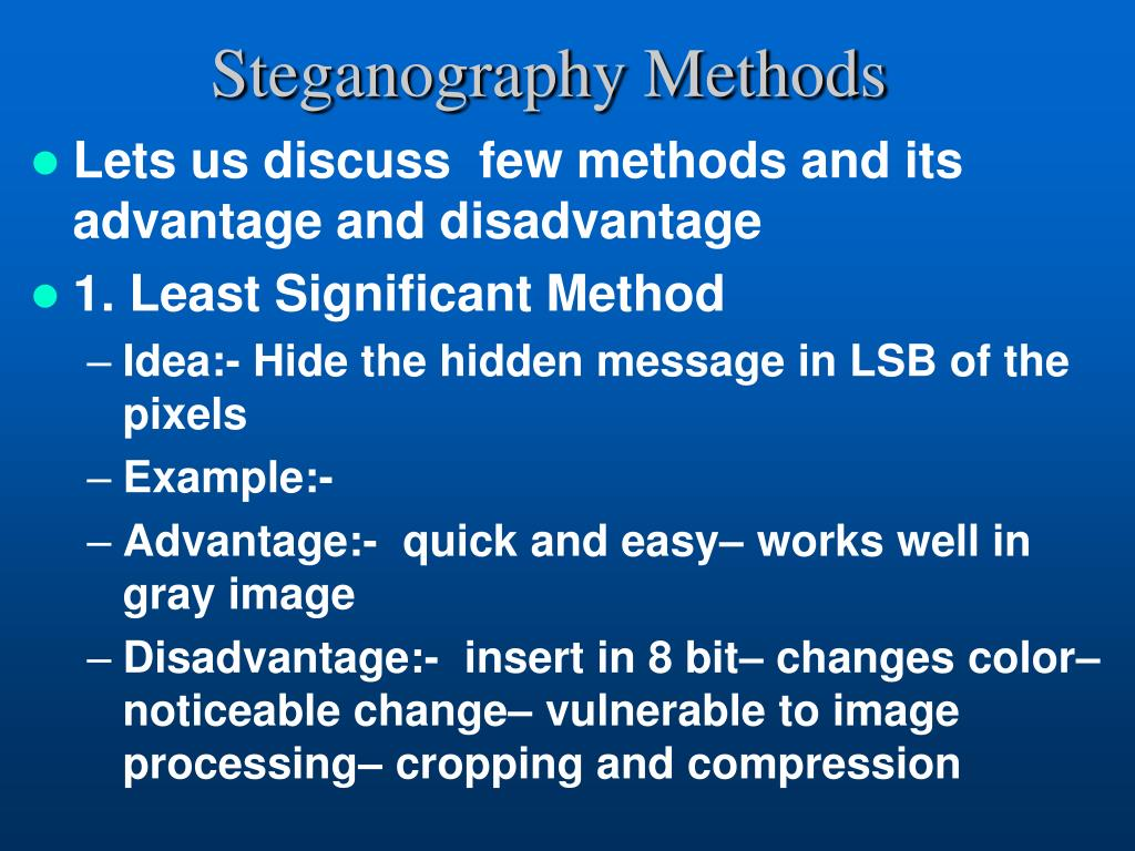 PPT - STEGANOGRAPHY: Data Mining: PowerPoint Presentation