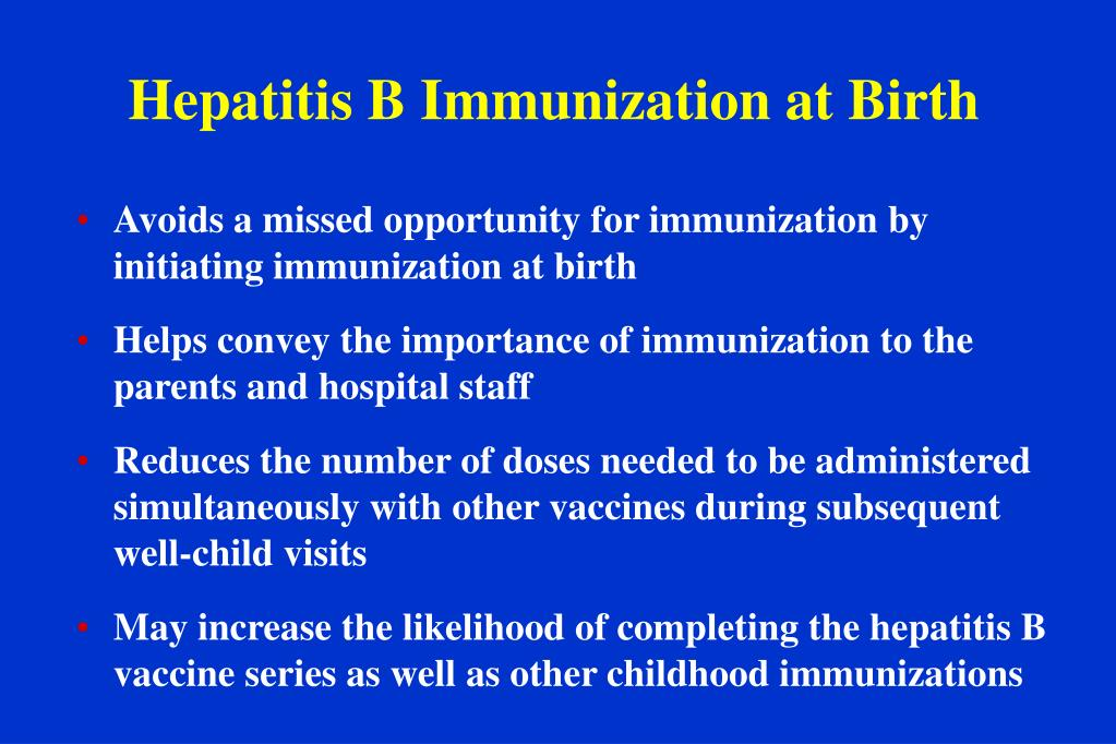 Hepatitis B Immunization at Birth
