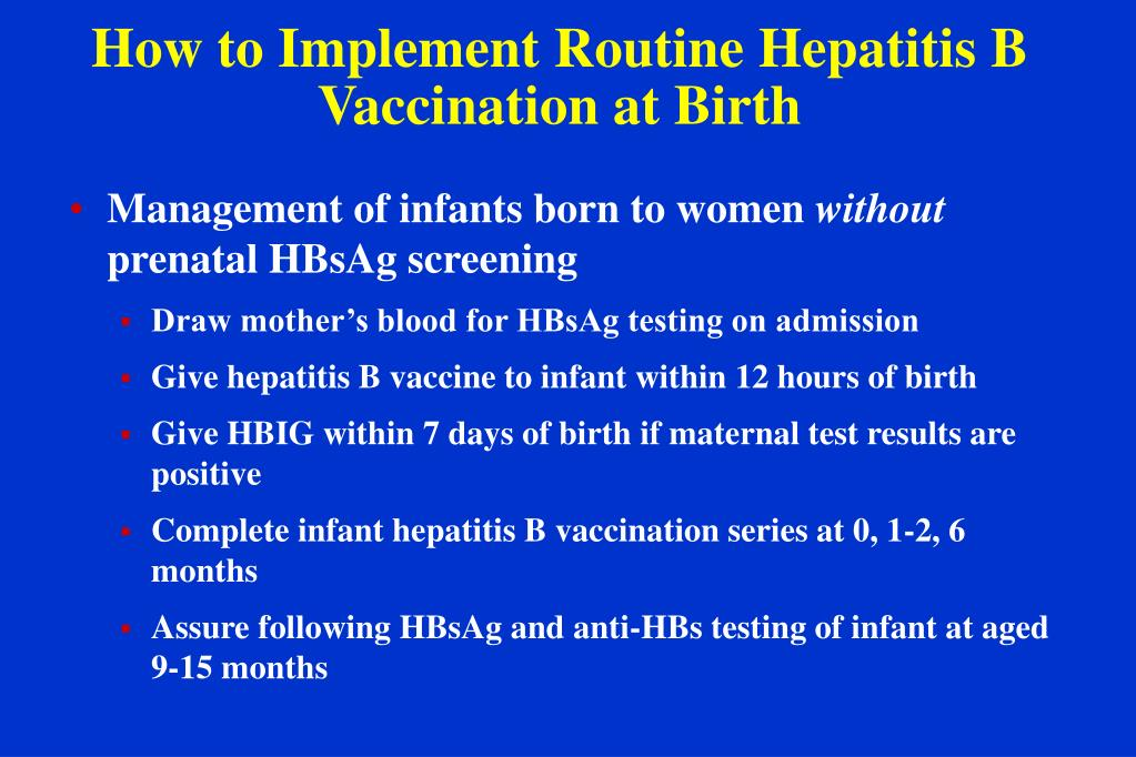 How to Implement Routine Hepatitis B Vaccination at Birth
