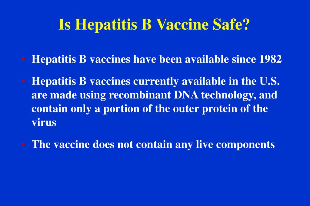 Is Hepatitis B Vaccine Safe?