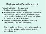 background definitions cont