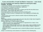 costs and benefits of trade facilitation measures case study
