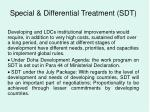 special differential treatment sdt