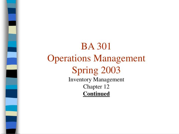 british airways operations management