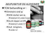 akupunktur og alzheimer