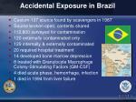 accidental exposure in brazil