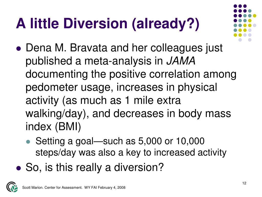 A little Diversion (already?)