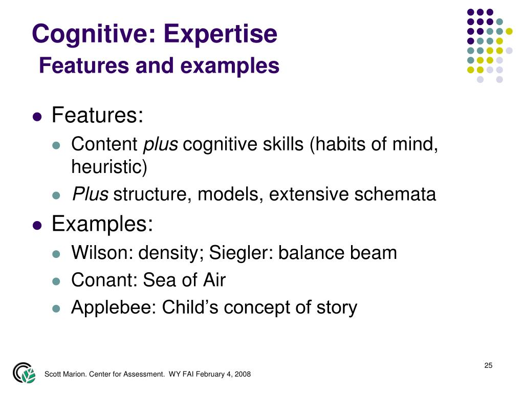 Cognitive: Expertise
