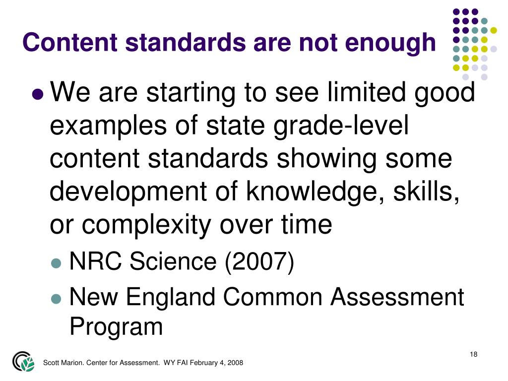 Content standards are not enough
